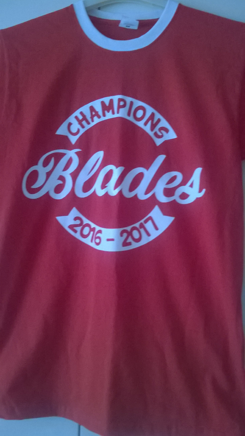 Sheffield United Blades Champions 2016-17 T Shirt