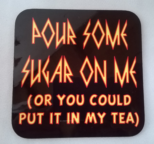 Def Leppard themed Coaster