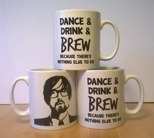 Jarvis Cocker 'Dance & Drink & Brew' Mug