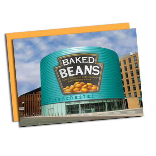 Baked Beans tin building