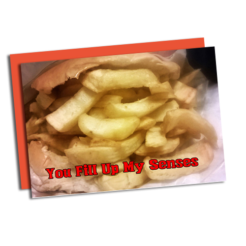 Image of a Greasy chip butty and the words you fill 